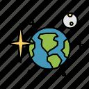 earth, galaxy, mars, moon, space, stars, universe