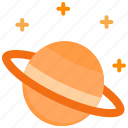orbit, planet, saturn, science, space icon
