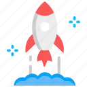 launch, rocket, space, startup icon