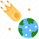 asteroid, astronomy, comet, meteor, space icon