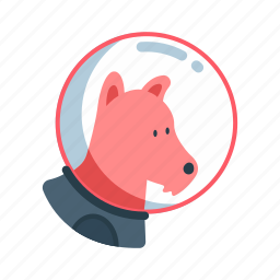 animal, astronaut, puppy, science, space dog icon