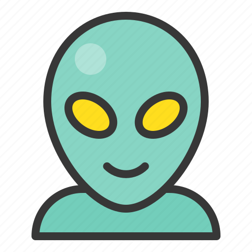 alien, cartoon, character, monster, space icon