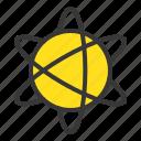 atom, atomic, chemical element, orbit, space icon
