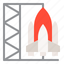 exploration, rocket, rocket shuttle, space, spaceship icon