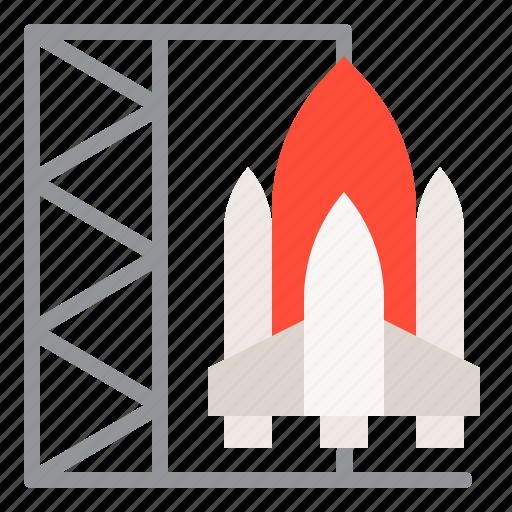 exploration, rocket, rocket shuttle, space, spaceship icon
