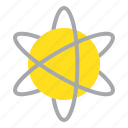 atom, atomic, chemical element, orbit, space icon