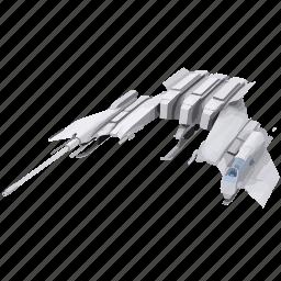 battle, model, ship, space, war icon