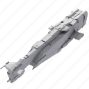 battle, long, mashine, model, ship, space icon