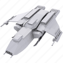 battle, mashine, model, ship, space icon