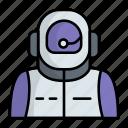 astronaut, cosmonaut, outer space, man, spacesuit, spacewalker