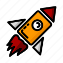 earth, rocket, space, startup