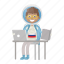 astronaut, astronomy, computer, spaceman, working