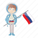 astronaut, astronomy, russia, spaceman icon