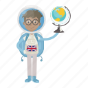 astronaut, astronomy, globe, spaceman