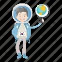 astronaut, astronomy, globe, planet, spaceman