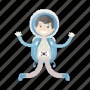 astronaut, cosmonaut, jump, kid, spaceman