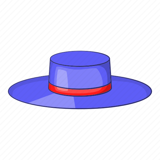 Cartoon, design, flamenco, hat, red, ribbon, spain icon - Download on Iconfinder