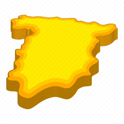 Cartoon, contour, geography, line, map, spain, travel icon - Download on Iconfinder