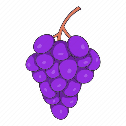 cartoon, food, fruit, grape, leaf, organic, wine icon