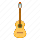acoustic, cartoon, guitar, melody, music, musical, play icon