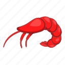 cartoon, food, gourmet, prawn, sea, seafood, shrimp icon