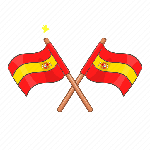 Attribute, badge, cartoon, crossed, device, flag, spain icon - Download on Iconfinder