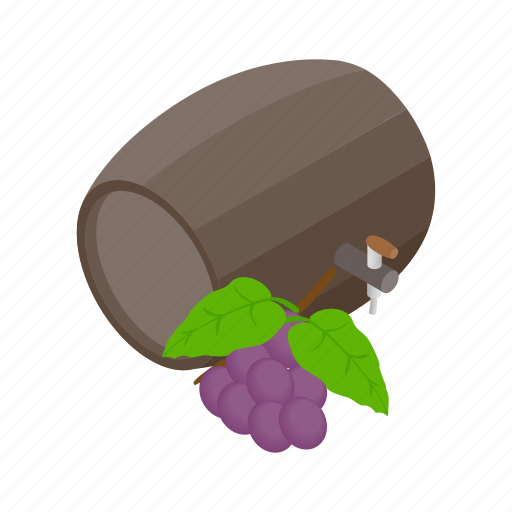 alcohol, barrel, drink, glass, isometric, spanish, wine icon