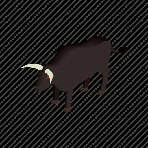 animal, bull, bullfight, horn, isometric, spain, spanish icon