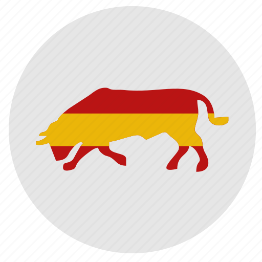 bull, flag, nation, spain, tradition icon