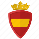crown, espana, nation, shield, spain icon