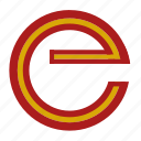 e, espana, flag, letter, national, spain icon