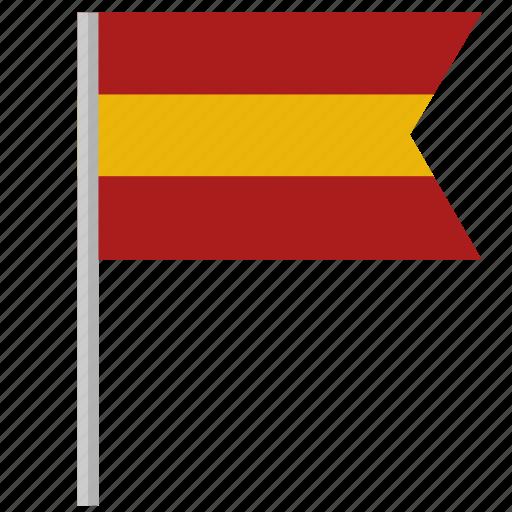 espana, flag, hand, nation, spain icon