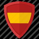 espana, flag, national, shield, spain icon
