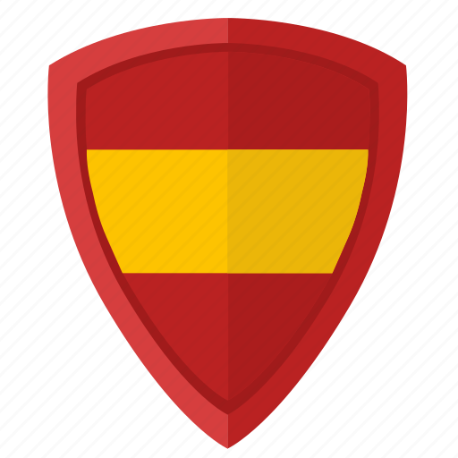 espana, flag, national, shield, spain icon