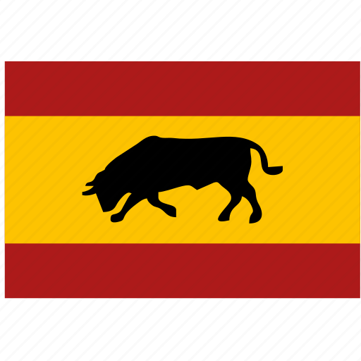 bull, espana, flag, nation, spain icon