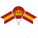 espana, flags, nation, spain, tourism icon