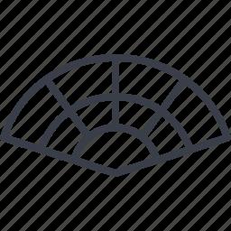 cool, fan, folding fan, spain icon