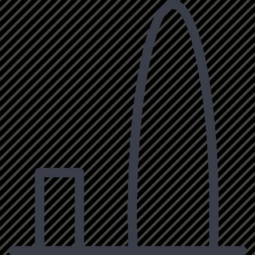 barcelona skyline, building, spain, structure icon