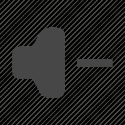 down, music, speaker, volume icon
