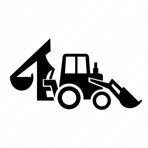 backhoe, loader, special, vehicle icon