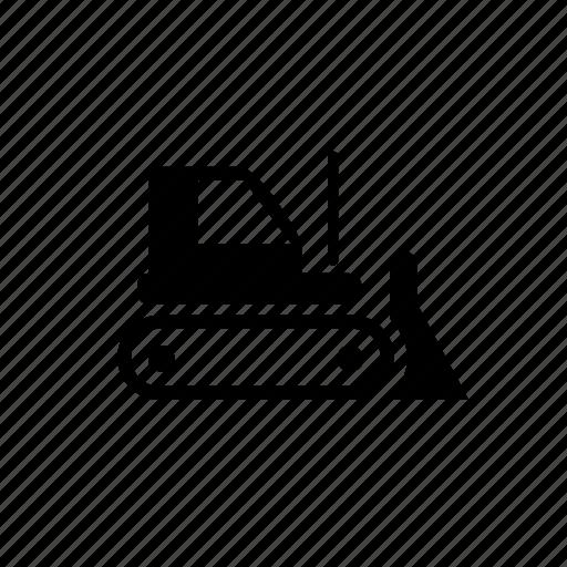 building, bulldozer, special, tractor, vehicle icon