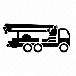 building, concrete, pump, special, vehicle icon