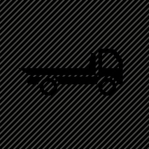 evacuator, municipal, transport, truck, vehicle, wheels icon