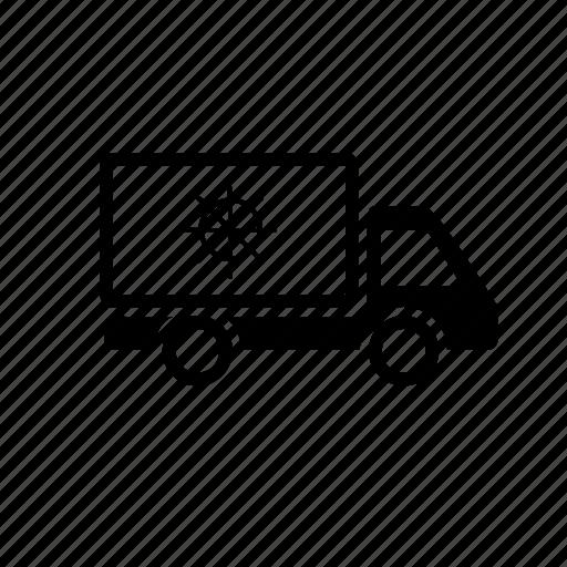 delivery, food, isothermal, medicine, transport, van icon