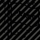 banner, emblem, flagpole, peace flag, streamer icon
