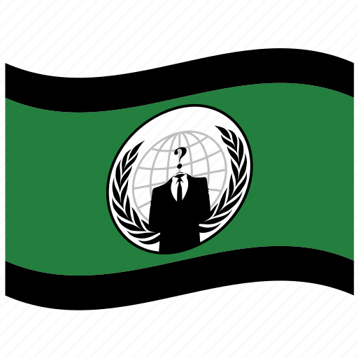 anonymous, conspiracy, flag, hacker icon