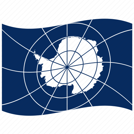 antarctic, antarctica, flag, polar, treaty icon