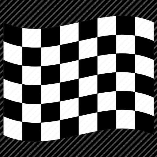 Green Race Car Start Flag
