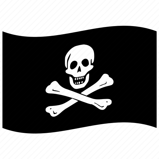 buccaneer, corsair, filibuster, flag, freebooter, freedom, gentleman of fortune, jolly, pirate, roger, rover, sea dog icon