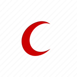 aid, crescent, health care, islam, medical, medicine, moon, muslim, red crescent icon